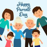 happy parents`s day concept. vector illustration royalty free illustration