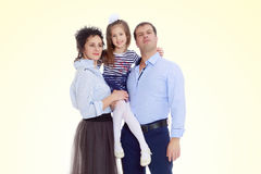Happy parents with a small daughter. Royalty Free Stock Photography