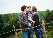 Happy parents with son Royalty Free Stock Photo