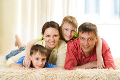 Happy parents and their children Royalty Free Stock Image