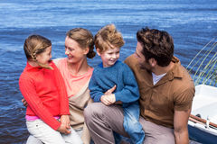 Happy parents with their children Royalty Free Stock Images
