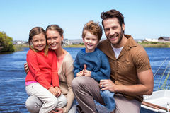 Happy parents with their children Royalty Free Stock Photo