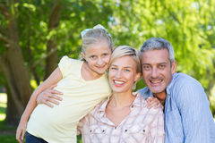 Happy parents with their daughter Royalty Free Stock Images