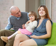 Happy parents with two-year child Stock Photography
