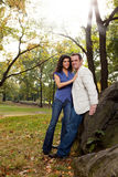 Happy Park Couple Royalty Free Stock Photo