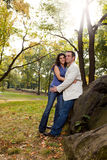 Happy Park Couple Royalty Free Stock Photography