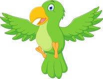 Happy parrot cartoon flying Stock Photo