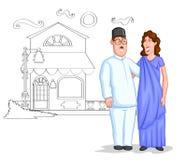 Happy Parsi couple Royalty Free Stock Image