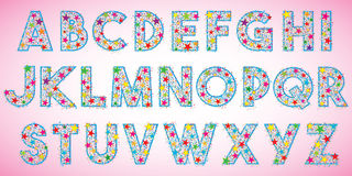Happy Party Alphabet Letters Vector Royalty Free Stock Photography