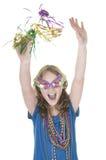 Happy party girl Royalty Free Stock Photos