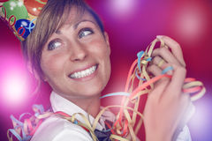 Happy party girl Royalty Free Stock Images