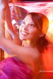 Happy party girl in the club Royalty Free Stock Photo