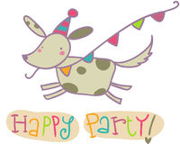 Happy party greetings card Stock Images