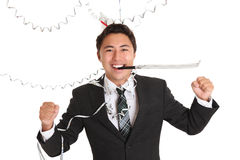 Happy party guy Royalty Free Stock Images