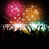 Happy Party Time. Party music background for active nighttime event Stock Images