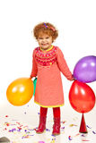 Happy party toddler girl Royalty Free Stock Photo