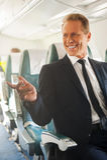 Happy passenger. Royalty Free Stock Photo