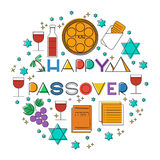 Happy Passover. Greeting card Royalty Free Stock Photo