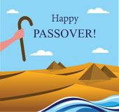 Happy Passover- Out of the Jews from Egypt Stock Photos