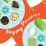 Happy Passover Seder meal greeting card Stock Photos