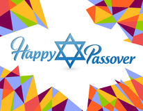 Happy passover sign card illustration Stock Photography