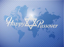 Happy passover sign card illustration Royalty Free Stock Images