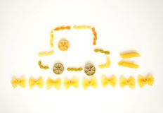 Happy pasta picture Royalty Free Stock Images