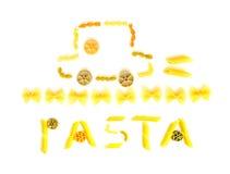 Happy pasta picture Stock Image