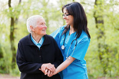 Happy Patient and Doctor Royalty Free Stock Photo