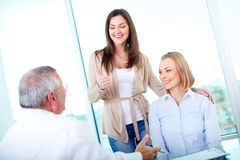 Happy patients Stock Photography