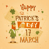 Happy Patrick Day Festival Beer Holiday Poster Fest Royalty Free Stock Image