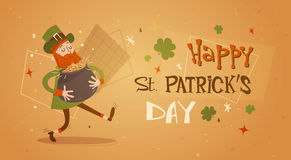 Happy Patrick Day Festival Beer Holiday Poster Fest Stock Photography