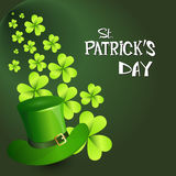Happy Patrick Day Festival Beer Holiday Poster Fest. Flat Vector Illustration Stock Photos