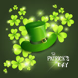 Happy Patrick Day Festival Beer Holiday Poster Fest. Flat Vector Illustration Royalty Free Stock Photo