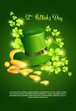 Happy Patrick Day Festival Beer Holiday Poster Fest. Flat Vector Illustration Royalty Free Stock Photos