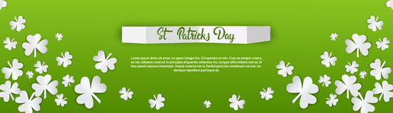 Happy Patrick Day Festival Beer Holiday Poster Fest. Flat Vector Illustration Royalty Free Stock Images