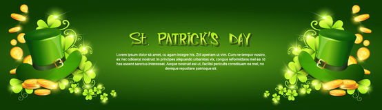 Happy Patrick Day Festival Beer Holiday Poster Fest. Flat Vector Illustration Stock Image