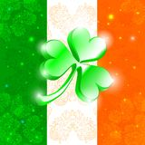 Happy Patrick day flag Royalty Free Stock Photo