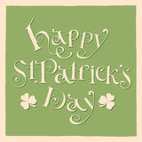 Happy patrick day vintage hand lettering greeting Royalty Free Stock Photo