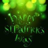 Happy patrick day vintage hand lettering greeting Royalty Free Stock Image