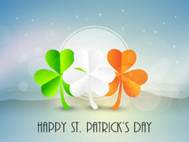 Happy Patricks Day celebration with shamrock leaves. Royalty Free Stock Photography