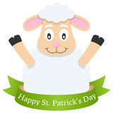 Happy Patrick s Day Sheep & Ribbon Stock Images
