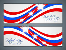 Happy Patriot Day. Creative web banners for Happy Patriot Day with nice illustration in a background royalty free illustration
