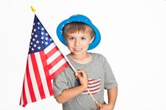 Happy patriotic boy Stock Photos