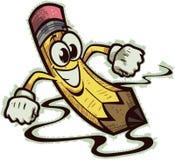 Happy Pencil. Vector illustration of an energetic cartoon pencil Royalty Free Stock Photos