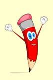 Happy Pencil Royalty Free Stock Photography
