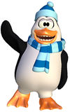 Happy penguin Royalty Free Stock Images