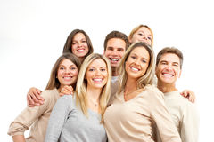 Happy people. Happy funny people. Isolated over white background Stock Images