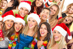 Happy people. Happy funny people. Christmas. Party Stock Image