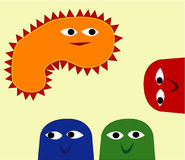 Happy People. Abstract Creatures play in Space stock illustration